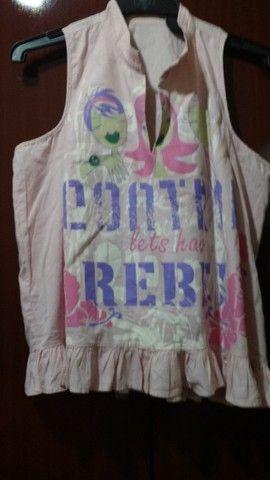 Blusa em tecido 100% algodão - M - Foto 5