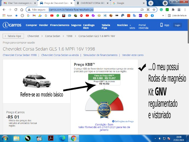 Vendo Corsa Sedan GLS 1.6 MPFi 16V 1998 - Foto 9
