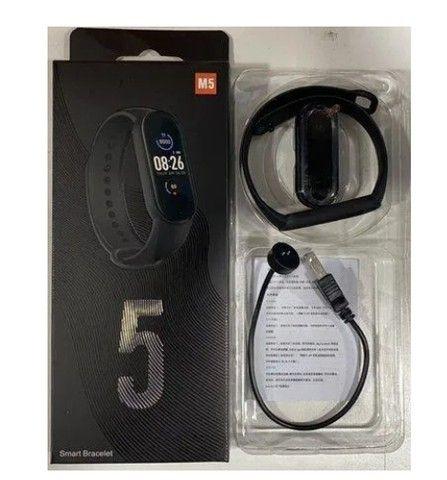 M5 Smartband Bluetooth 4.2 Com Monitor De Pressão Sanguínea E Frequência Cardíaca - Foto 4