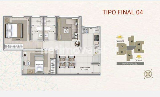 Apartamento à venda com 2 dormitórios em Carlos prates, Belo horizonte cod:849931 - Foto 9