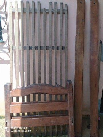 Cama de solteiro, em madeira Angelim 200,00 - Foto 2