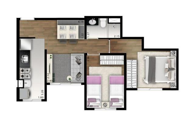 Apartamento - 2 Dorm. - Vista Club Jandira - Foto 13