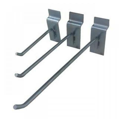 Gancho painel 5 mm zincado unidade, tamanhos 5 cm, 10 cm, 15 cm