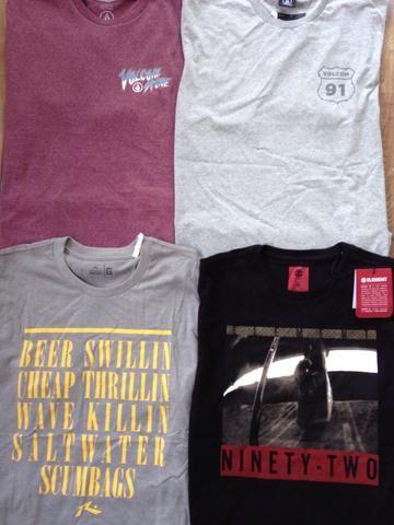 Kit 5 camisetas marcas surf/skate originais entrego - Foto 4