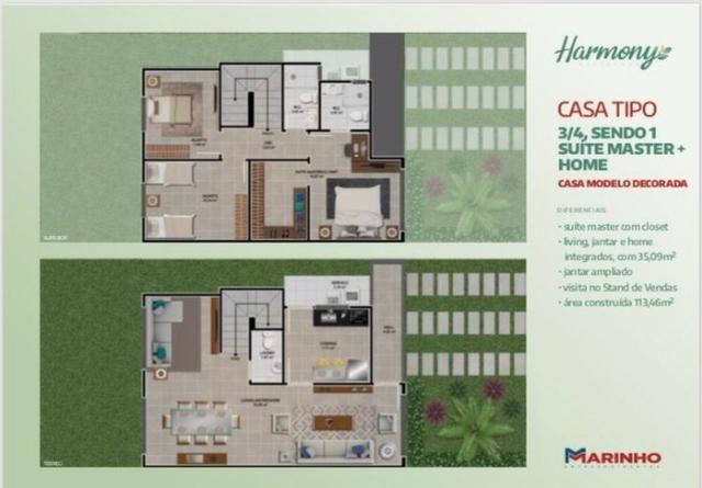 Casas Duplex de 3/4 Suíte Master e Closet - Home - No Melhor do SIM - Foto 16