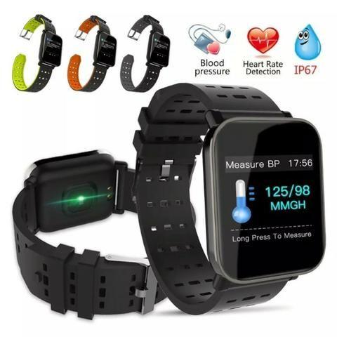 Relógio Smartwatch Medição Ky109 Bluetooth Ip67 Cal Batimentos Pressão - Mega Infotech - Foto 2
