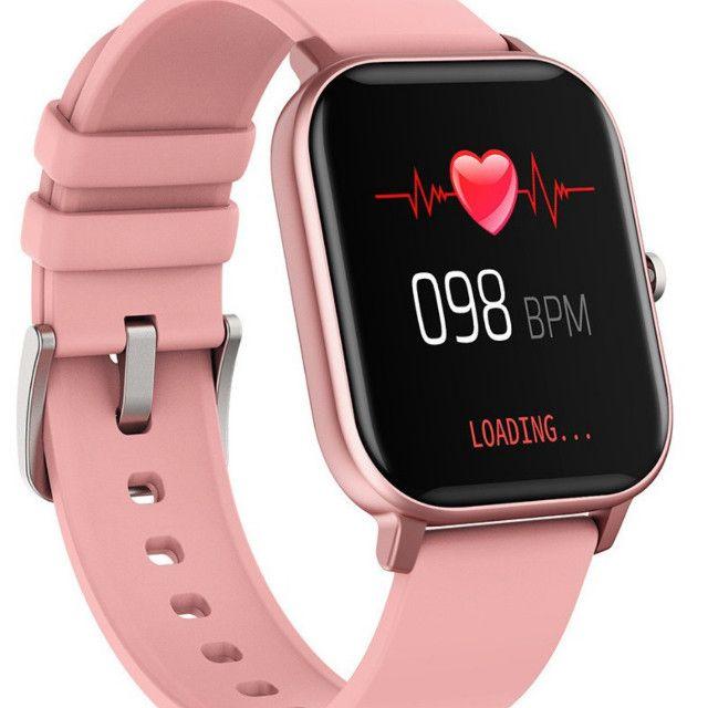 Relógio Smartwatch Colmi P8 esportivo fitness com frequência cardíaca/ tela touch IPX7 - Foto 3