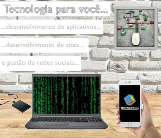 Aplicativos, sites e gestão de redes sociais