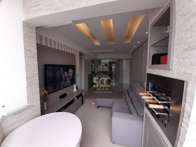 Apartamento com 2 dormitórios à venda, 60 m² por R$ 350.000 - Coqueiros - Florianópolis/SC - Foto 3