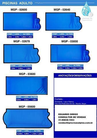 ED Piscina de fibra 7,00x3,20x1,40 Alpino Piscinas - Foto 6