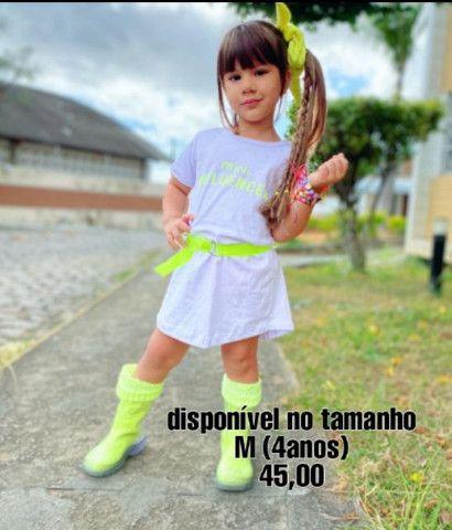 Vestido infantil mini fashion - Foto 3