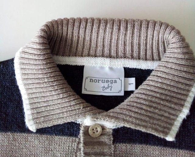 Blusa de lã menino Tam 1 - Foto 2
