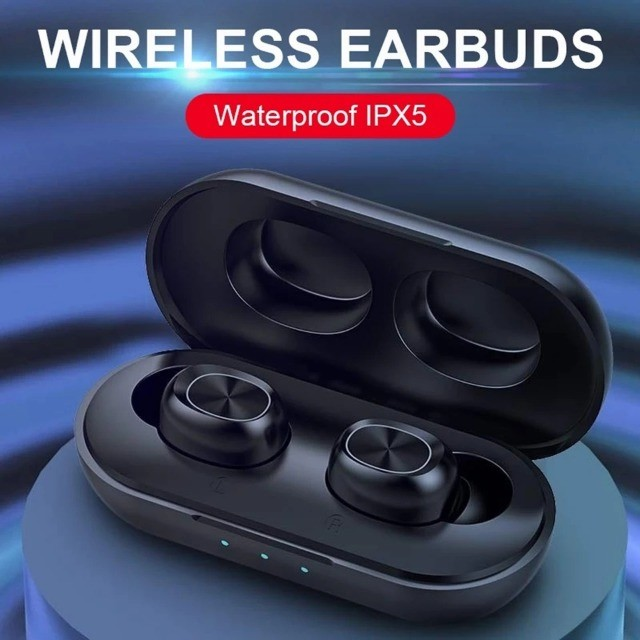 Fone de ouvido Bluetooth 5.0 B5 Tws Com Microfone