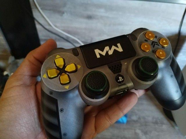 Controle PS4 alta performance com 4 paddles + 2 pares de grip - Foto 4