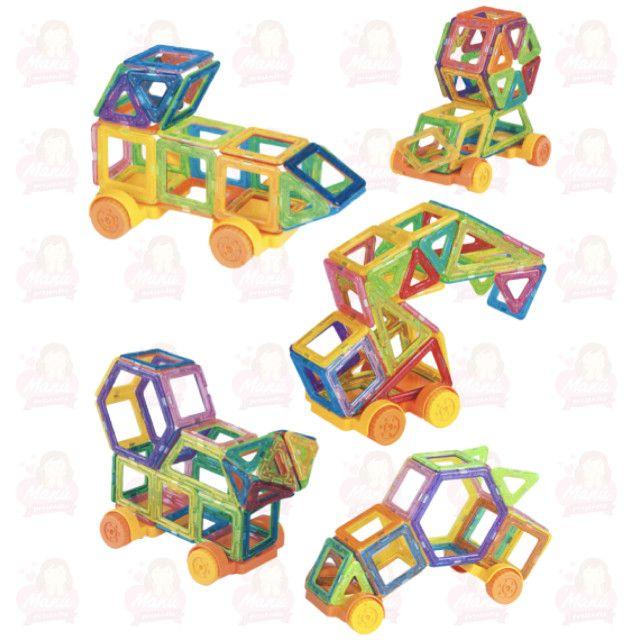 Blocos Magnéticos 110 peças - Completo com manual - Foto 5