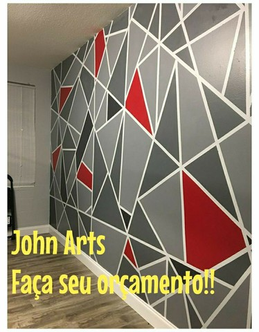 Pinturas geométricas em parede  - Foto 4