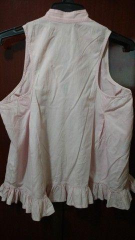 Blusa em tecido 100% algodão - M - Foto 4