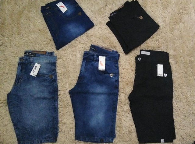 Kit 3 Bermudas Jeans Excelentes  - Foto 3