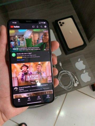 (Garantia Apple) IPHONE 11 PRO MAX 64GB GOLD TODOS OS ACESSÓRIOS  - Foto 3