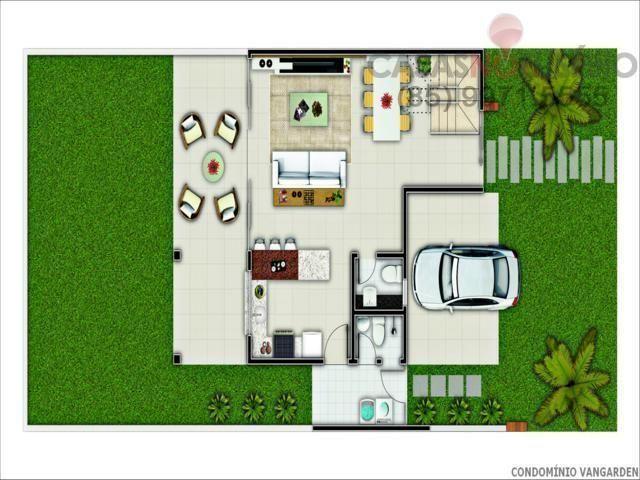 Casa em condominio de 140 m, 3 suites, 2 vagas, nova com lazer, perto ce - Foto 16