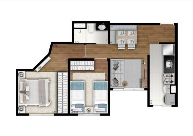 Apartamento - 2 Dorm. - Vista Club Jandira - Foto 15