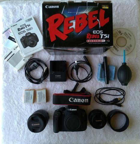 Câmera Canon T5i + Lente 18-55mm + Lente 50mm + Acessórios - Foto 4