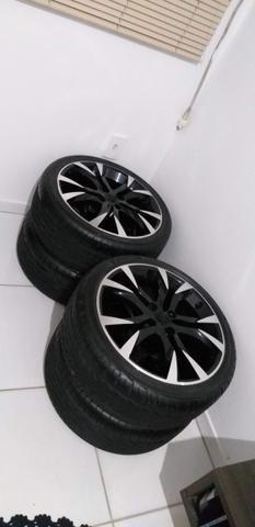 Vendo jogo de rodas aro 17 da scorro com pneus bons - Foto 6