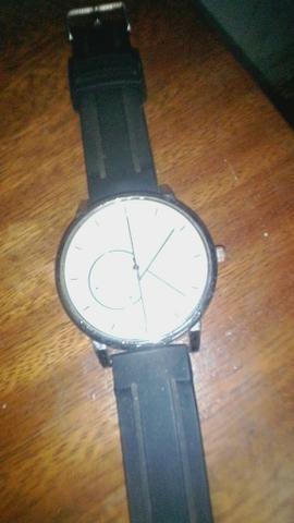 458a1c312fbb1 Relógio Calvin Klein pulseira de couro - Bijouterias, relógios e ...