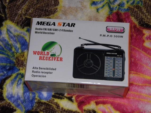 Megastar radio am/fm/sw 110/220v som forte fantastico caixa lacrada em P.Alegre-rs