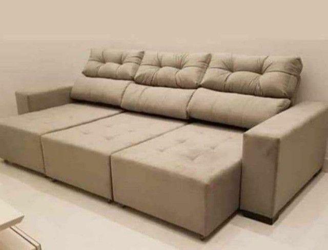 Sofá retrátil e reclinável 3 metros. - Foto 3