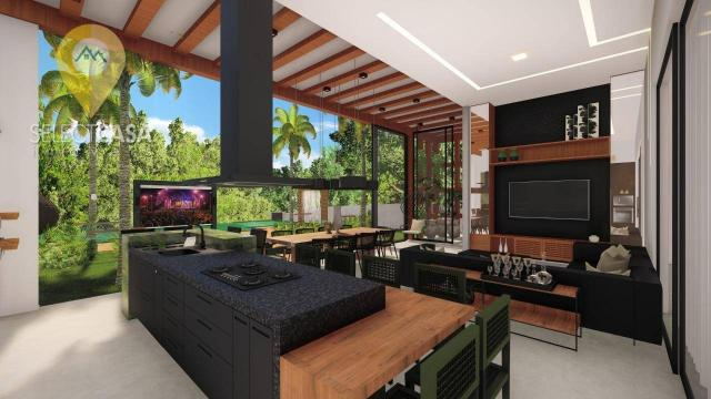 Casa com 4 dormitórios à venda, 450 m² por R$ 3.800.000,00 - Boulevard Lagoa - Serra/ES - Foto 2