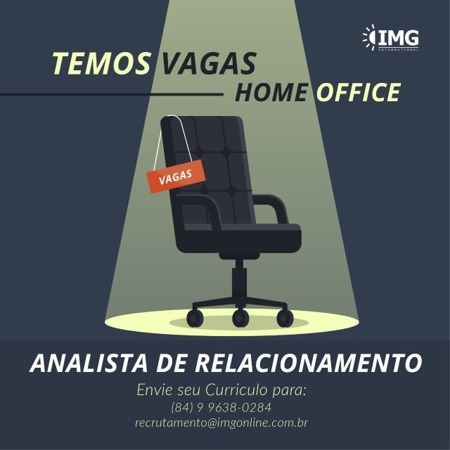 Emprego para Analista de Relacionamento (Home Office)