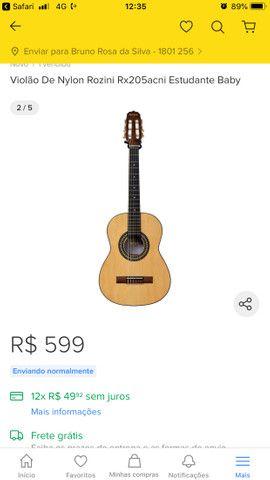 Violão Rozini Rx250 Baby - Foto 6