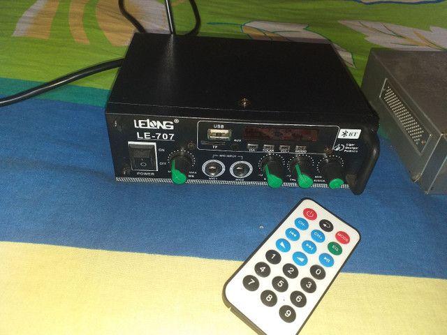 Gravadora de câmeras de segurança uma Fonte e um mine amplificador. Tudo funcionando.  - Foto 4