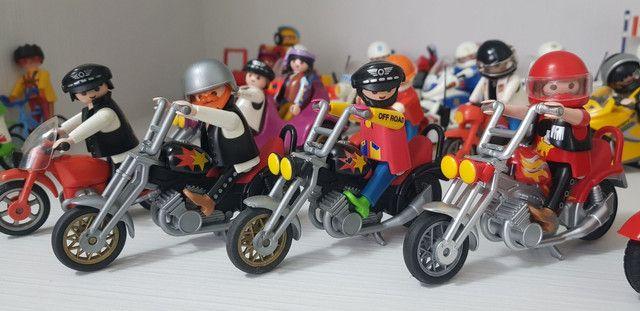 Playmobil - Grande Coleção De Motos E Sets - Foto 6