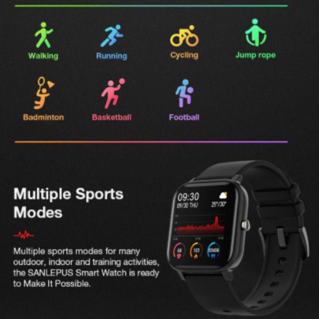 Relógio Smartwatch Colmi P8 esportivo fitness com frequência cardíaca/ tela touch IPX7 - Foto 2