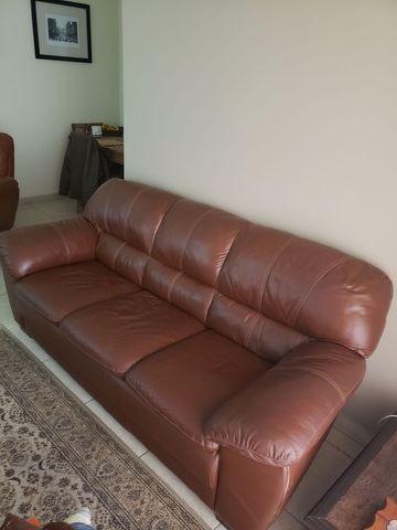 Sofa 100% couro legitimo 3 lugares - Foto 3