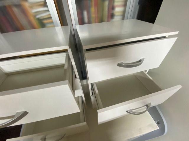 Móvel Criado-Mudo, com 3 gavetas cada, para sala ou quarto, compensado, leve - Foto 4