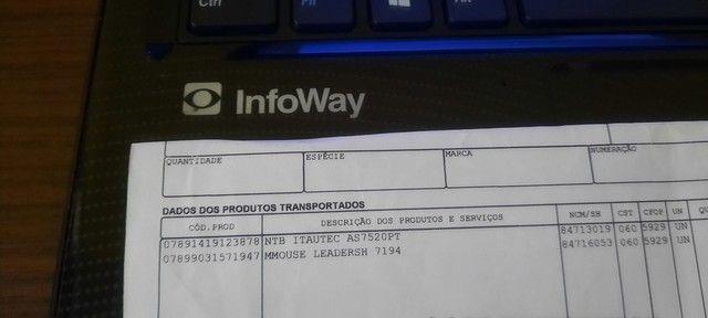 Notebook Itautec Único Dono + NF Fiscal 500GB  - Foto 2
