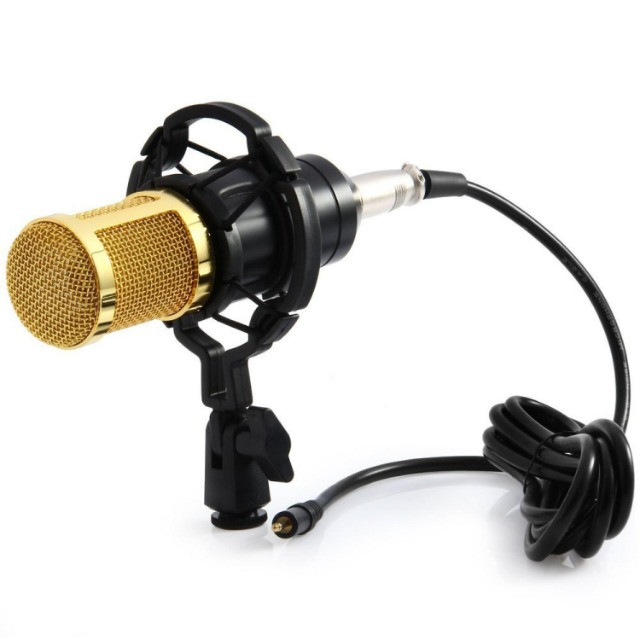 Microfone Condensador Profissional Conexão XLR Dourado BM 800 - Loja Natan Abreu - Foto 6