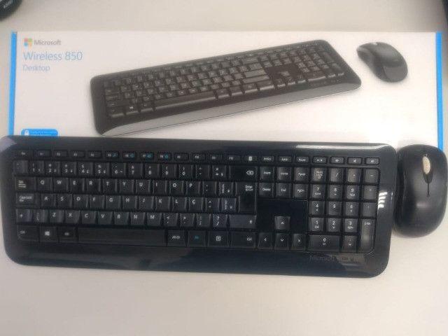 Kit teclado e mouse Wireless 850- Microsoft - Foto 3