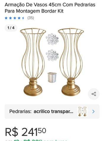 Kit Vasos de Ferro 45cm - Foto 2