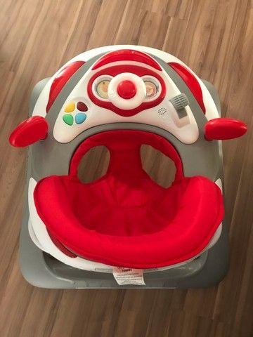 Andador Para Bebê Liam Musical Galzerano Cinza - Foto 2