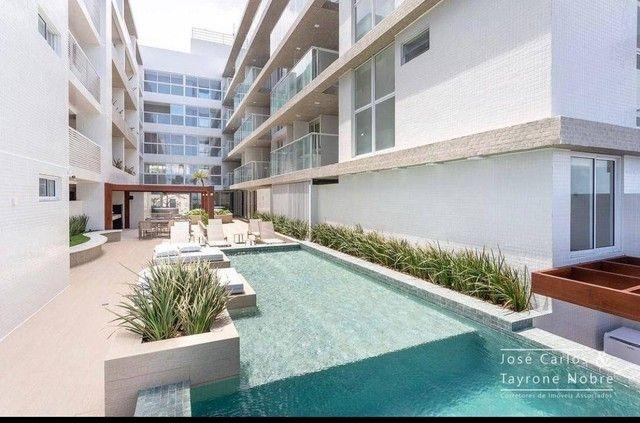 Apartamento térreo com área externa, 71m², projetados e com piscina privativa a beira mar  - Foto 13