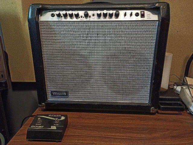Amplificador c/ Pré Valvulado Vulcano G100 2x10 - Foto 2
