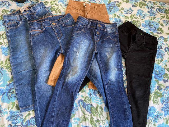 Lote calças menino, veste 2 á 4 anos