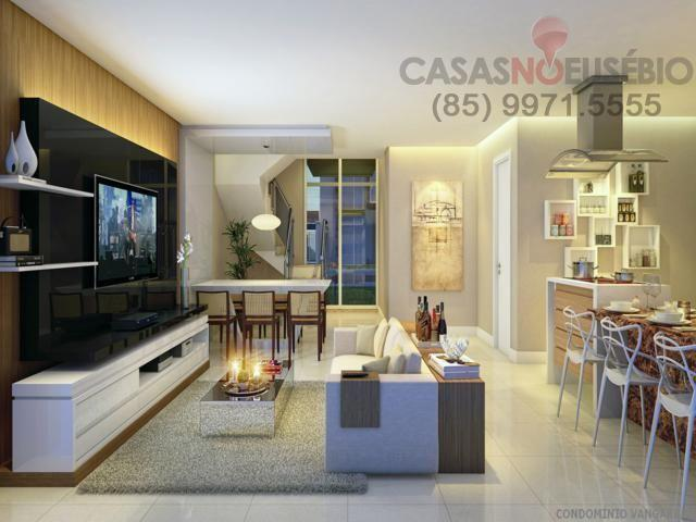 Casa em condominio de 140 m, 3 suites, 2 vagas, nova com lazer, perto ce - Foto 10