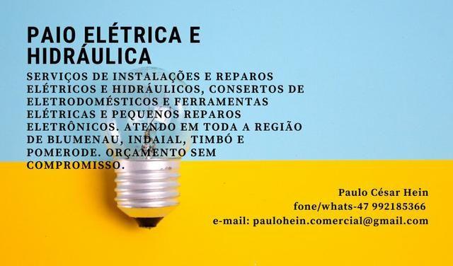 Eletricista, hidráulica, inversor de frequência, painel elétrico, portão eletrônico