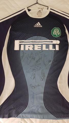 Camiseta Autografada Oficial Do Palmeiras De 2008  Todo Time ... e1a137b737d20