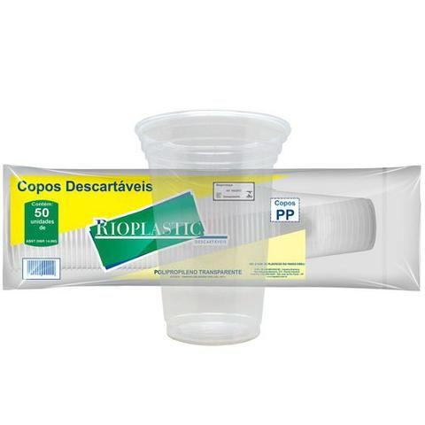 Copo transparente 550ml pp - Rioplastic